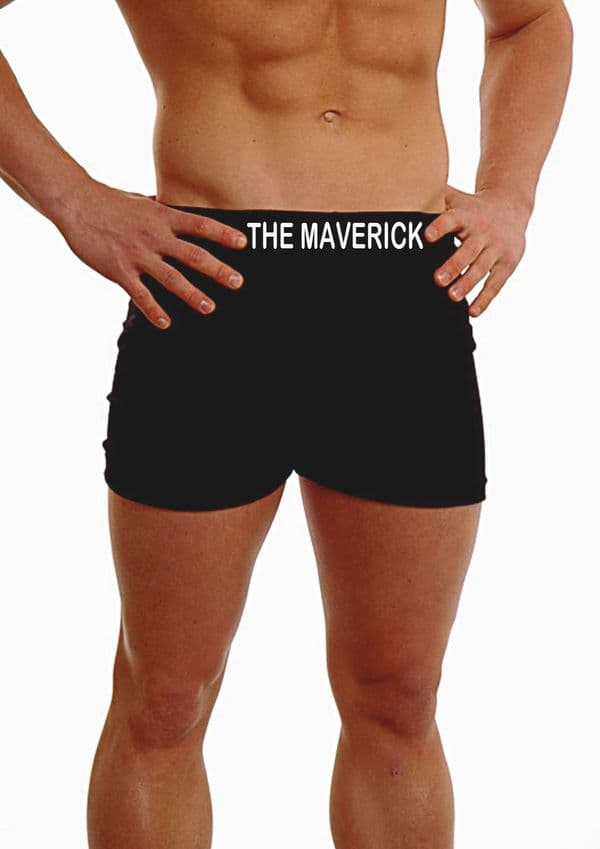 PERSONALISED MENS HIPSTER BOXER SHORTS - EMBROIDERED - ANY NAME LOVER - ON THE WAISTBAND